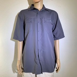 Browning Gray Fishing/Camp style short sleeve
